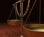 Échelles de justice Image stock