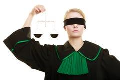 Échelles de participation d'avocate de femme Photographie stock