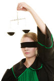 Échelles de participation d'avocate de femme Photo libre de droits