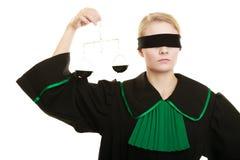 Échelles de participation d'avocate de femme Image libre de droits