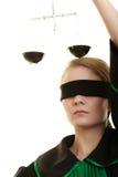 Échelles de participation d'avocate de femme Photos stock