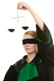 Échelles de participation d'avocate de femme Images libres de droits