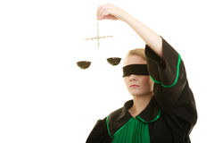Échelles de participation d'avocate de femme Photo stock