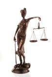 Échelles de sculpture en justice Image libre de droits