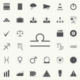 échelles de zodiaque d'icône de venus Ensemble détaillé d'icônes minimalistic Signe de la meilleure qualité de conception graphiq illustration de vecteur
