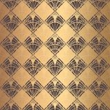 Échelles irrégulières d'Art Deco Pattern Golden Background Illustration Libre de Droits