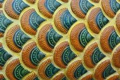 Échelles thaïlandaises de Naga Photos stock