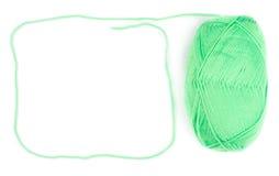 Écheveau de fil de couleur verte Photo libre de droits