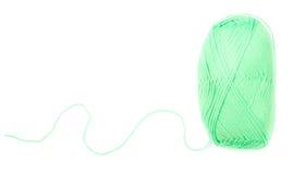 Écheveau de fil de couleur verte Photographie stock