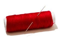 Écheveau de fil rouge Photographie stock