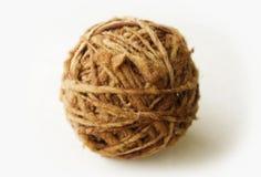 Écheveau organique de laine naturelle Images libres de droits