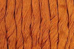 Écheveaux de Brown de soie comme texture de fond Image libre de droits