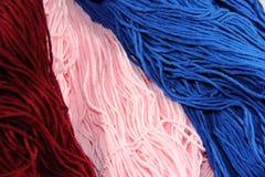 Écheveaux des laines Images stock