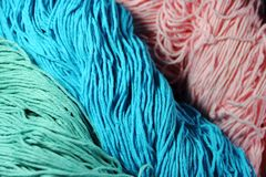 Écheveaux des laines Images libres de droits