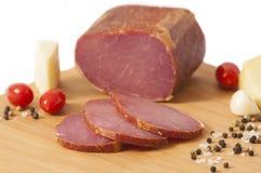 Échine de porc fumée d'hickory - lard canadien ou Pecenica photos stock