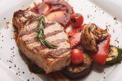 Échine de porc grillée Photo stock