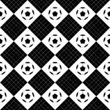 Échiquier blanc de noir de boule du football Diamond Background Photographie stock libre de droits