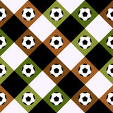 Échiquier de Brown de vert de boule du football Diamond Background Photographie stock