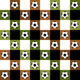 Échiquier de Brown de vert de boule du football Diamond Background Images stock