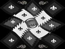 Échiquier en plastique noir et blanc de trellis de style de texture Photo stock