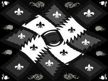Échiquier noir et blanc de trellis de style de texture Photo stock