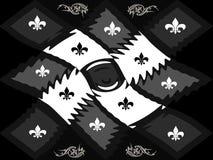 Échiquier noir et blanc de trellis de style de texture image stock