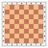 Échiquier pour le jeu d'échecs Image libre de droits