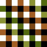 Échiquier vert de Brown Diamond Background Image stock