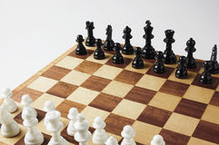 Échiquiers et pièces d'échecs Photographie stock libre de droits