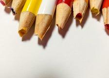 Échouer coloré de taille-crayons Photo libre de droits