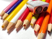 Échouer coloré de taille-crayons Image libre de droits