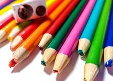 Échouer coloré de taille-crayons Image stock