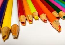 Échouer coloré de taille-crayons Photographie stock