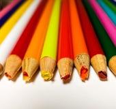 Échouer coloré de taille-crayons Photos stock