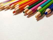 Échouer coloré de taille-crayons Images libres de droits