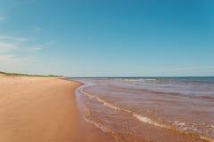 Échouez à St Peters Bay sur le rivage du nord de prince Edward I Photographie stock