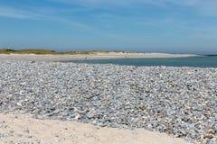Échouez avec des cailloux à l'île dunaire allemande près de Helgoland Images libres de droits