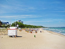 Échouez dans le brin de Timmendorfer, mer baltique, Allemagne Images libres de droits