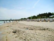 Échouez dans le brin de Timmendorfer, mer baltique, Allemagne Photo libre de droits