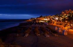 Échouez Las Amériques en île de Ténérife - Espagne jaune canari photographie stock libre de droits