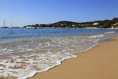 Échouez le long de la côte d'Olmeto, près de Propriano, la Corse du sud Images libres de droits