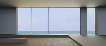 Échouez les vacances et la vie sur la vue de mer dans la relaxation de vacances Photo stock