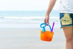 Échouez les vacances et le ciel de jouet dans l'outil de ponçage Photo libre de droits