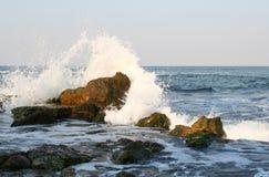 Éclabousse de la mer Photos libres de droits
