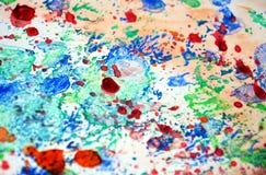 Éclabousse le fond en pastel, texture colorée de résumé Image libre de droits