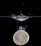 Éclaboussement de citron Photographie stock