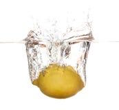 Éclaboussement de citron Photos libres de droits