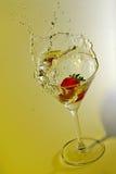 Éclaboussement de fraise Photo stock