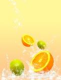 Éclaboussement de fruit Photographie stock