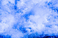 Éclaboussement de l'eau dans le fleuve rapide Images libres de droits
